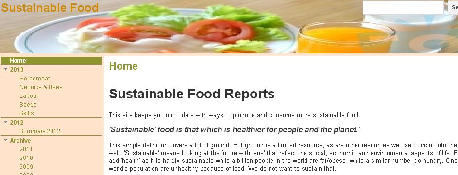 Sustainable Food Reports